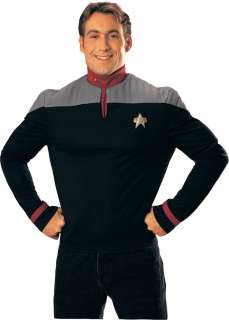 Nine Star Trek Uniform Red Shirt   Adult Star Trek Uniform Costumes