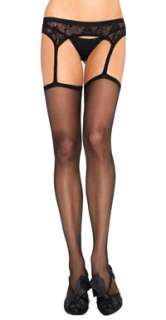Black Sheer Suspender Pantyhose   Pantyhose, Stockings & Tights