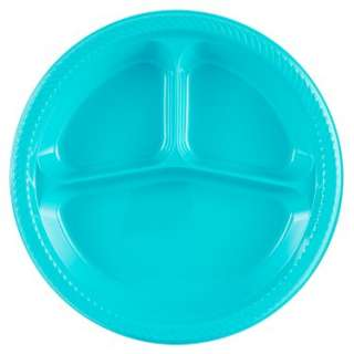 Turquoise Divided Dinner Plates (20 count)   Costumes, 66114
