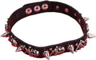 Necklace Skull Punk 16 1/2 In (Accessories)