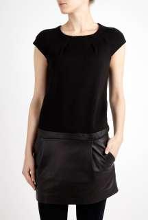 Vanessa Bruno Athé  Black Milano Leather Dress by Vanessa Bruno Athe