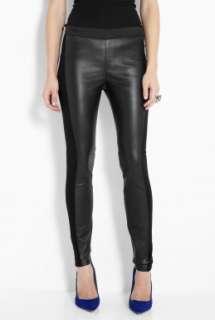 By Malene Birger  Black Kaysia Leather Insert Leggings by By Malene