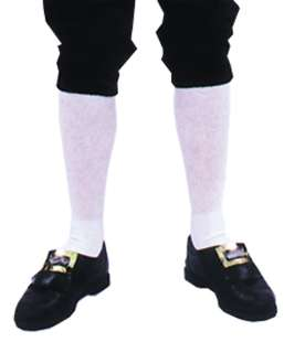 White Knee High Colonial Socks   These knee length socks are just the