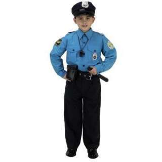 Jr. Police Officer Suit Child Costume   Includes One piece suit, hat