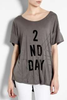 2nd DAY  Grey Chain Label T Shirt by 2nd DAY