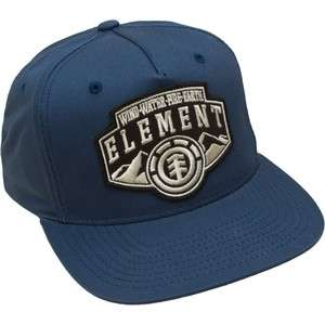 Element Rocky Mountain Blue Starter Adjustable Flat Bill Hat Ball Cap