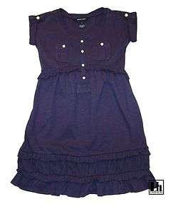 NWT Ralph Lauren Girls Safary Cotton Jersey Shirt Dress 2 2T
