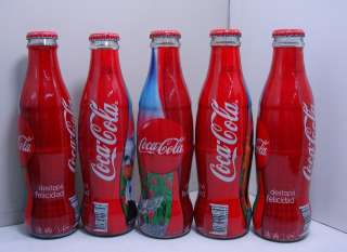 SET COCA COLA 5 BOTTLES TEEN ANGELS music TV ARGENTINA