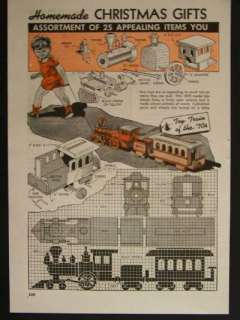 Wooden Toy Train Steam Locomotive 1943 HowTo build PLANS