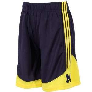 adidas Michigan Wolverines Preschool Navy Blue Pre Game Mesh