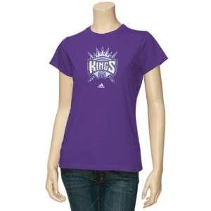 adidas Sacramento Kings Purple Ladies Sugar T shirt