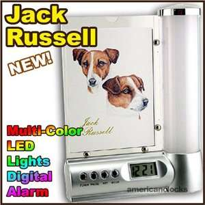 Russell Photo Frame Digital DOG Alarm Clock Light Kitchen & Dining