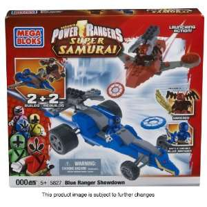 Mega Bloks Power Rangers Samurai Blue Ranger vs Xandred Toys & Games
