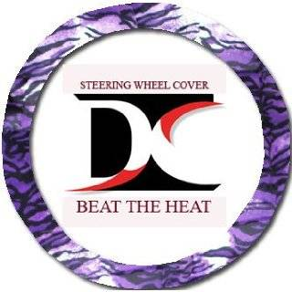 Purple Leopard steering wheel cover. Beat the heat Automotive