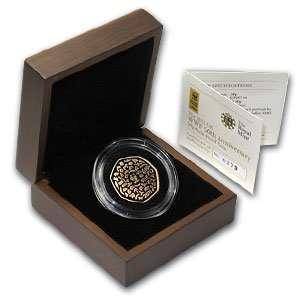 50th Anniversary   WWF 50p Piedfort Proof Gold Coin (.9167