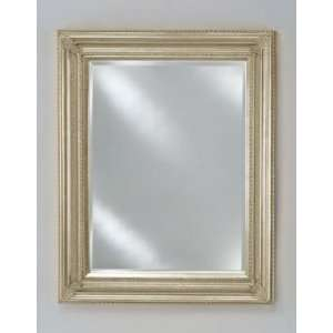 34 in.Baroque Decorative Wall Mirror   Antique Silver
