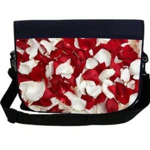 White Rose Petals NEOPRENE Laptop Sleeve Bag Messenger Bag   Laptop