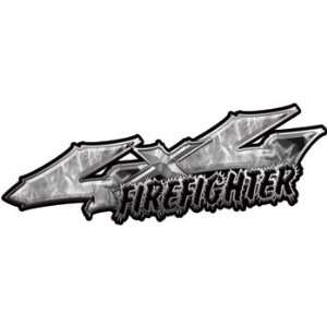 4x4 Truck Firefighter Edition Decals in Inferno Gray: Automotive
