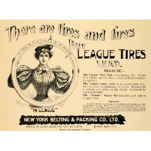 1896 Ad New York Belting Packing Rubber Tires Bike Bicycle