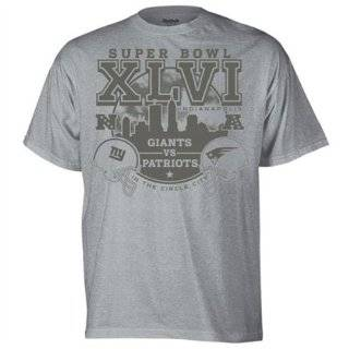 Giants Big & Tall Super Bowl XLVI Challenge Black T Shirt Clothing