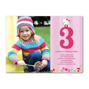 Birthday Party Invitations   Hello Kitty Colorful Candies