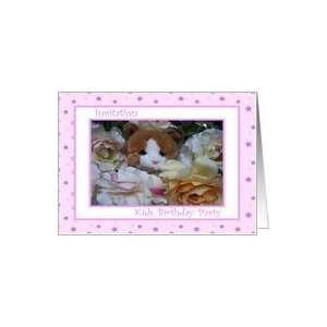 Birthday Party Kids Pink Kitty Toy and Flowers Card Toys