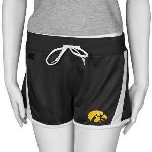 Iowa Hawkeyes Black Ladies Tempo Shorts