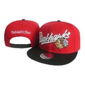 NHL Chicago Blackhawks Mitchell Ness Red Hats