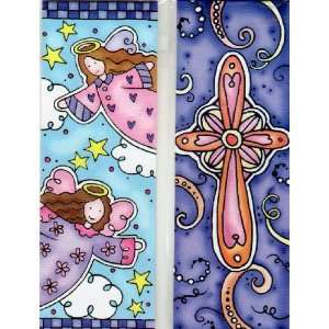 Magnetic Bookmarks   Angels and a Cross   Set of 2