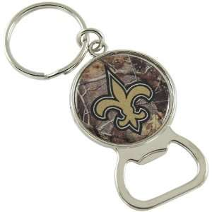 Saints Real Tree Camo Bottle Opener Keychain: Sports & Outdoors