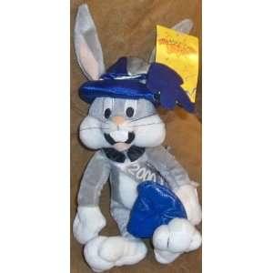Bugs Bunny Mil looney um 2000 Bean Bag Plush Toy NWT
