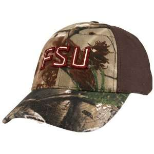 (FSU) Real Tree Camo Flex Fit Hat:  Sports & Outdoors