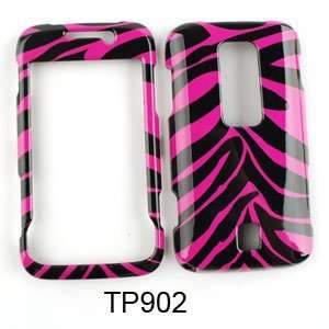 CELL PHONE CASE COVER FOR HUAWEI ASCEND M860 PINK BLACK ZEBRA Cell
