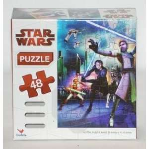 48 Piece Star Wars Clone Wars Puzzle Toys & Games