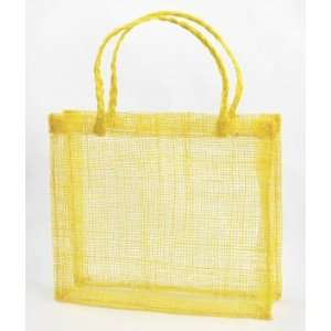 Yellow Sinamay Mini Tote Bags 12 Pack Fabric: Everything Else