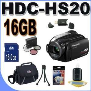 HDC HS20 HD Camcorder (Black)+ 16GB SDHC Memory + USB Card Reader