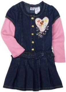 Disney Princess Girls Toddler Denim Dress Clothing