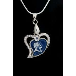 Charm Medal with 18 Sterling Silver Chain Duke University Blue Devils