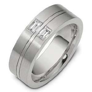 Diamond Platinum Comfort Fit Wedding Band Ring   6.25 Dora Rings