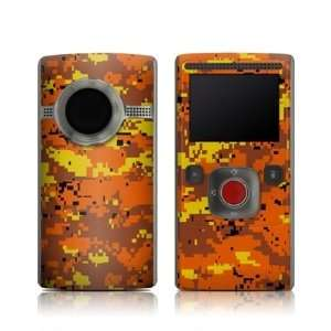 Digital Orange Camo Design Protective Skin Decal Sticker for Flip