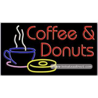 Coffee Donuts Neon Sign  Grocery & Gourmet Food