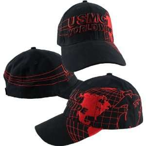 US Marine Corps Worldwide Map Ball Cap: Automotive