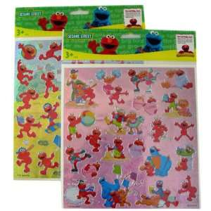 Street Elmo Sticker ~ Large foil stickers 2 pcs Set: Toys & Games