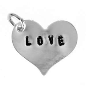 Sterling Silver Handcrafted LOVE Heart Charm Arts, Crafts & Sewing