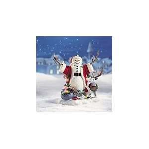 Lenox Christmas Greetings Snowman Sculpture Figurine: Home