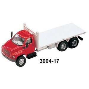 HO Scale GMC 3 Axle Flatbed Red/White Toys & Games