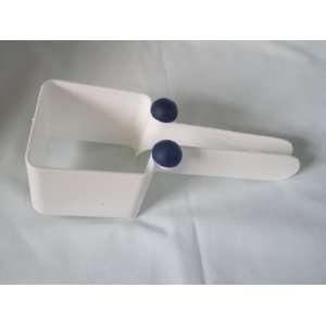 Tupperware Blue & White Piece O Cake Square Slicer