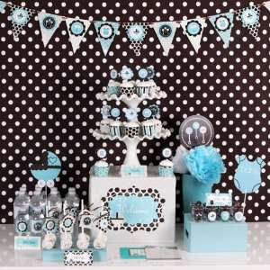 Blue Baby Shower Mod Party Kit Toys & Games