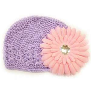 Fits 0   9 Months With a 4 Light Pink Gerbera Daisy Flower Hair Clip