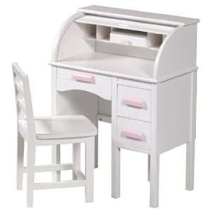 com Best Quality Jr Roll Top Desk   White By Guidcraft Toys & Games